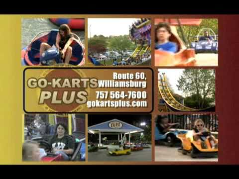 http://www.gokartsplus.com/ Go-Karts Plus, Williamsburg's premier family fun center. The park features 4 exciting go-kart tracks, miniature golf, blaster boa...