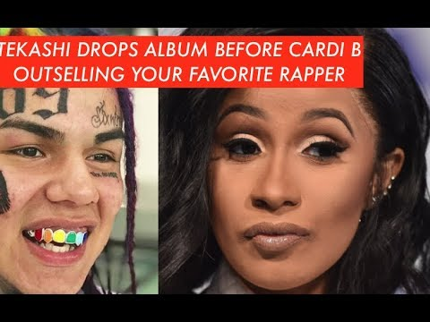 Tekashi 6ix9ine Dropped ALBUM BEFORE Cardi B AND FIRST WEEK OUTSELLING FAVORITE RAPPER, HE TOP 5