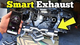 Installing a $7,000 App Controlled Exhaust on a Salvage Audi R8! It Sounds like a Lamborghini!