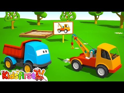 Kids 3D Machine Cartoons for Children 7: Leo the TOW TRUCK грузовичок Лева 트럭 레프 자동차에 대한 만화