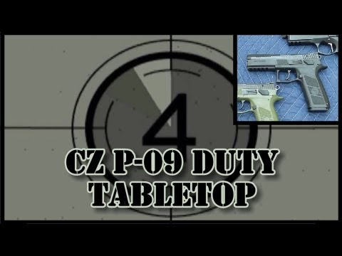CZ P-09 Duty Tabletop Review: features. function. measurements. field strip. etc