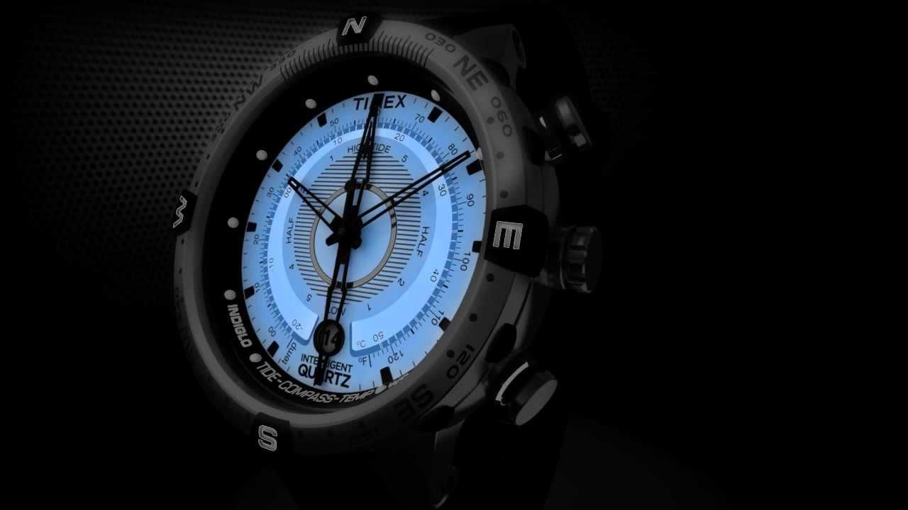 Timex Intelligent Quartz Tide Temp Compass INDIGLO Night