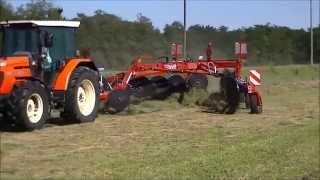 HIGH SPEED HAY RAKING - Same Silver 90 & Tonutti Millenium V18