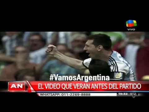 Argentina ya tiene su video motivador antes de la final con Chile