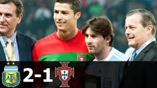Messi vs Ronaldo First International Friendly Argentina 2-1 Portugal All Goals & Highlights HD 720p