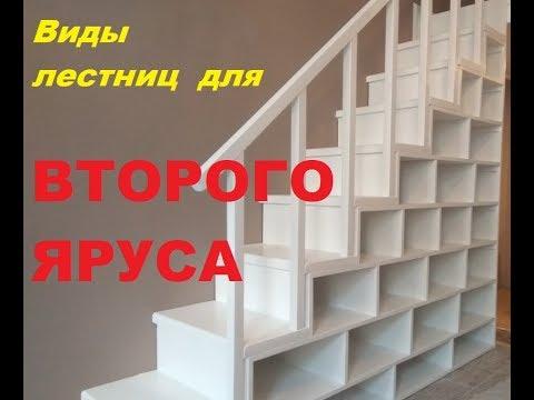 Виды лестниц для второго яруса и кровати чердака. Лестница на второй этаж в комнате