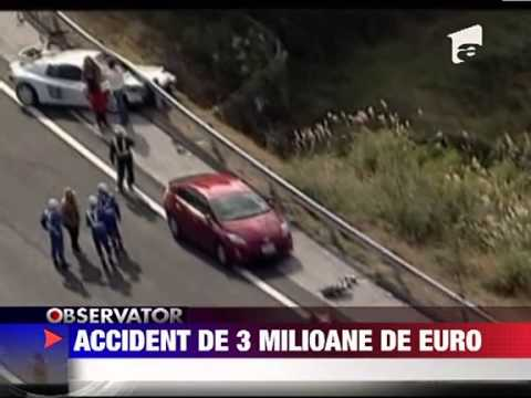 Accident auto cu pagube de 3 milioane de euro in Japonia 5 DECEMBRIE 2011