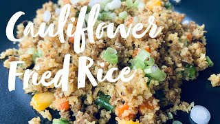 Cauliflower Fried Rice || Impossible Nepali Fried Rice with Ground Meat || Low Carb Recipe || RU010