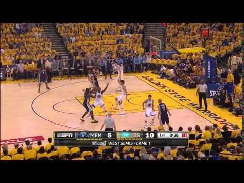 NBA, playoff 2015, Warriors vs. Grizzlies, Round 2, Game 1, Move 2, Marc Gasol, 2 pointer