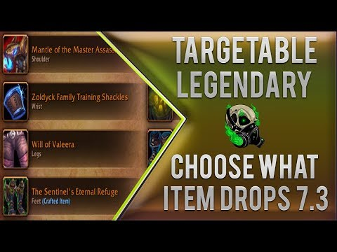 Choose What Legendary Item Drops in 7.3.5 - World of Warcraft Argus - Legion