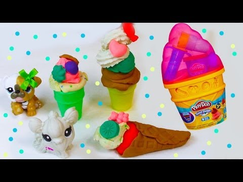 Play-Doh Ice Cream Cone Sweet Shoppe Maker Container Playset Toy Review Opening