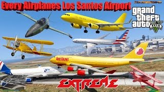GTA V: Every Airplanes Los Santos Airport Crash and Fail Compilation