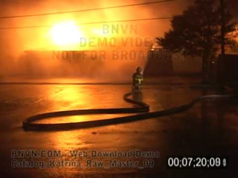 8/29/2005 Video of a out of control fire during Hurricane Katrina - Katrina Raw Master 09