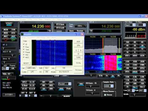 WinDRM HF QSO with K0PFX and K2MO LPC 10 CODEC