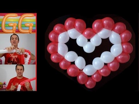 Как сделать с шариками сердечко 502