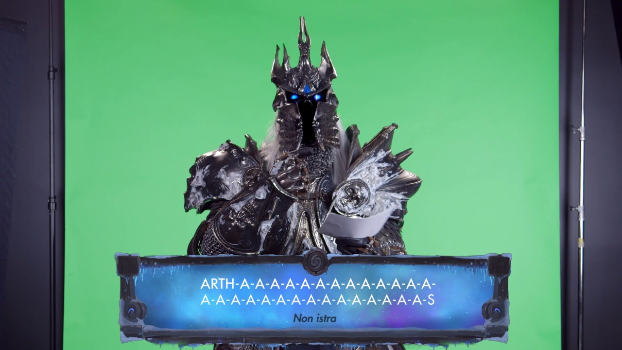 Hearthstone: The Lich King reads his fan messages