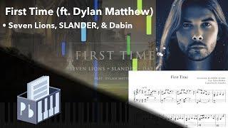 First Time Seven Lions Slander Dabin Piano Tutorial Sheets Midi Synthesia Pianobin