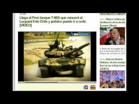 Llego al Perú Tanque T-90S que Vencerá al Leopard II de Chile