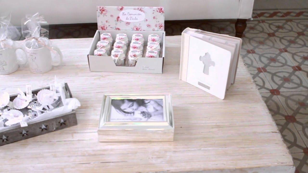 Comuni n regalos y detalles para invitados youtube - Detalles de comunion para hacer en casa ...