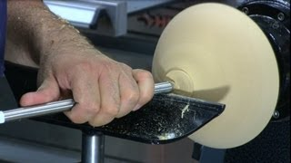 Finishing a Roughed Turned Bowl - Woodturning using Cole Jaws and Vacuum Chuck on a Robust Lathe