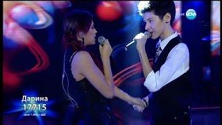 Дарина Йотова и Кристиан Костов - Крадена Любов - X Factor Live (04.01.2016)