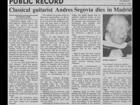 Andres Segovia - Segovia Study No 12