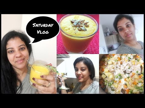 #VLOG SATURDAY BF/LUNCH ROUTINE/VEG PULAO/ONION SALAN/MANGO LASSI/MADHUSHIKA VLOGS