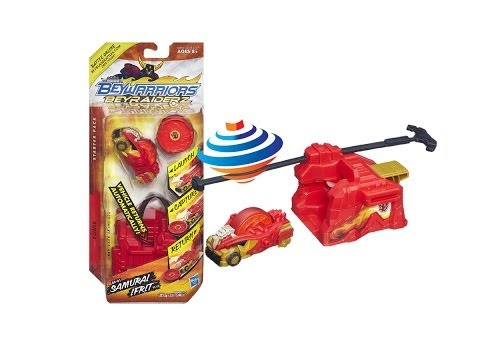 Beyblade BeyRaiderz Starter Pack Samurai Ifrit Unboxing Review Giveaway Exp March 9th