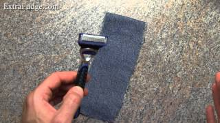 "How To ""Sharpen"" and reuse An Old Razor Blade Method"