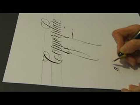 Calligraphy in the Western World : Extreme Letter Angles in Calligraphy