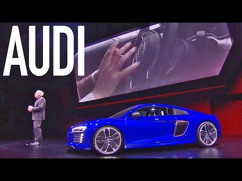 Audi R8 e-tron piloted driving - World Premiere at 2015 CES Asia