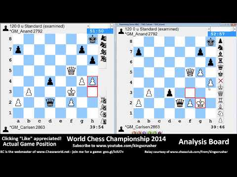 World Chess Championship 2014 : Game 4: - Kingscrusher and Friends Youtube Livestream