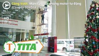 Rèm sáo cuộn motor tự động cho văn phòng - Cty TOYOTA Việt Nam