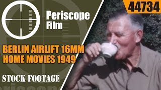BERLIN AIRLIFT 16mm HOME MOVIES 1949  Trip to BERLIN WEST GERMANY   44734