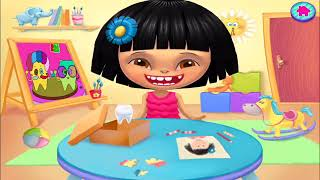 Fun Baby Care Kids Games - HAPPY TEETH - EAT HEALTH, Children Learn How To Care For Their Teeth