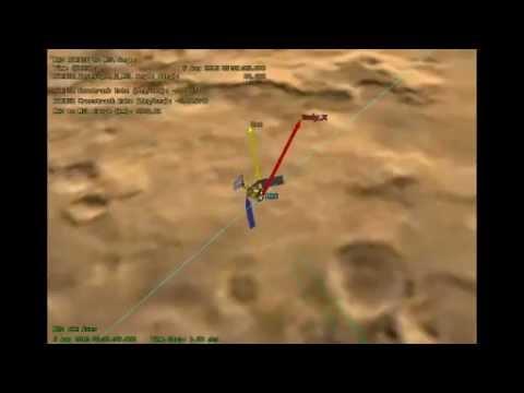 Mars Reconnaissance Orbiter Flying Over Mars