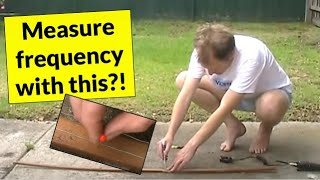 Measure frequency with wood, wire and nails: Fun with lecher lines