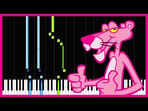 The Pink Panther Theme - Henry Mancini [piano Tutorial] (synthesia) video