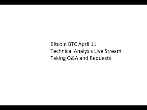 Bitcoin BTC / EOS April 11 - Technical Analysis Live Stream - Taking Q&A and Requests