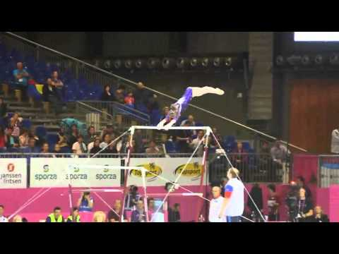 Anastasia GRISHINA RUS, Bars, Team Final, European Gymnastics Championships 2012