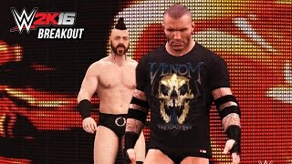 WWE 2K16 Brogue Kick Breakout Attacks!