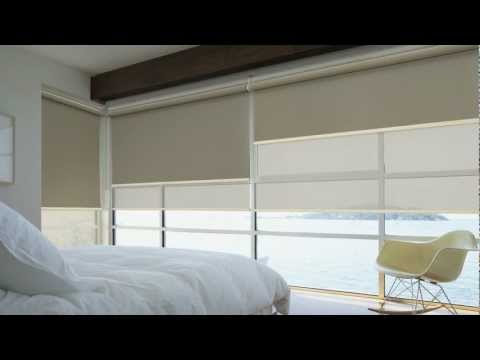 LUXAFLEX® Roller Blinds with EDGE technology - YouTube