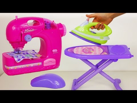 Mini Home Appliance | Sewing Machine Ironing Table and Iron Playset for Kids