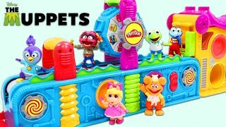 Disney Jr Muppet Babies Visit Magic Play Doh Mega Fun Factory for Surprise Toys!