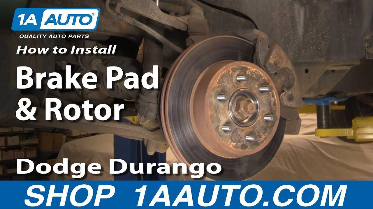 How To Install Replace Brake Pads And Rotors Dodge Durango
