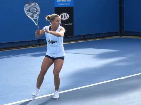 Dominika Cibulkova - Australian open 2012 - Slow motion video 02