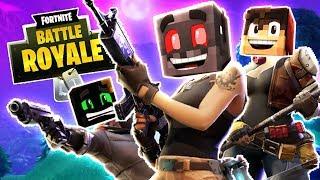 Team Minecraft! (Fortnite Battle Royale Funny Moments)
