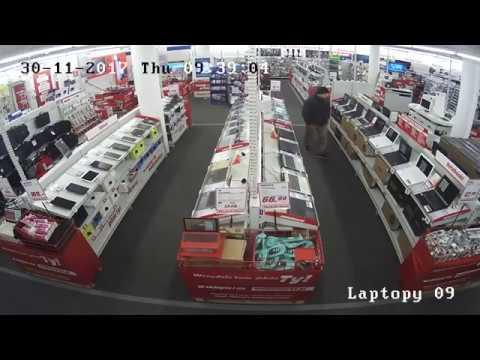 Kradzież Laptopa w sklepie z elektroniką