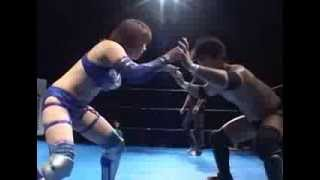 Kana VS Munenori Sawa (mixed gender pro-wrestling match in Japan) 華名vs澤宗紀