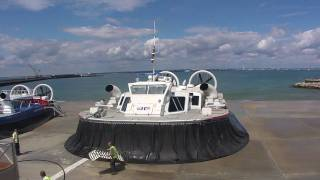 Hovercraft  Ryde leaving for Portsmouth and Southsea-Great Quality! Isle of Wight Solent Express